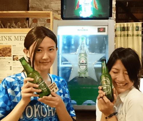 氷点下で飲むビールハイネケン エクストラコールド