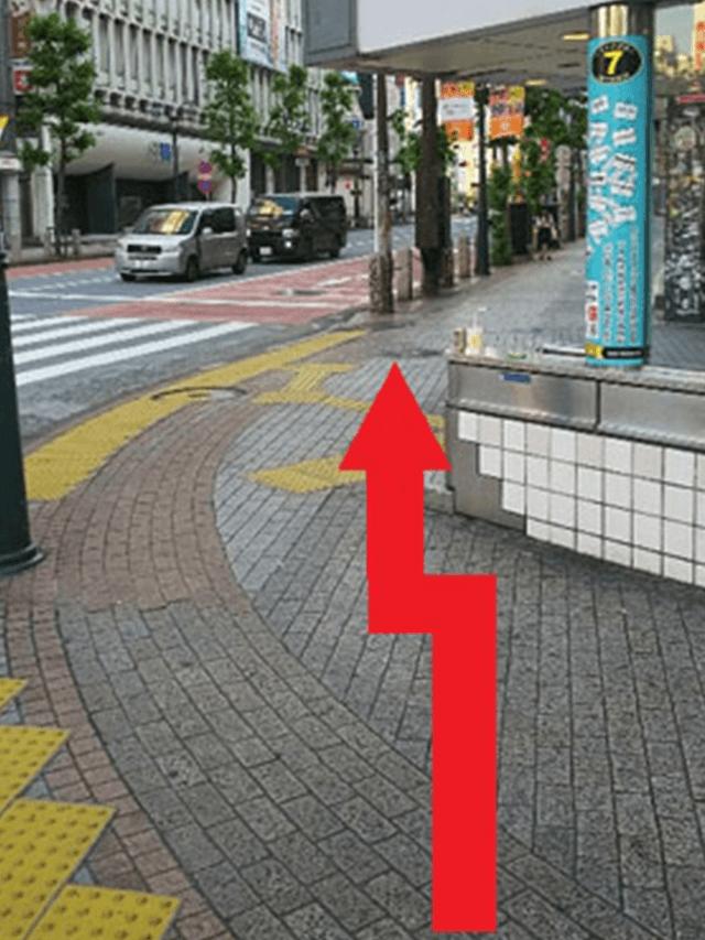 8.渡りきりましたら、矢印の方面へ向かってください。