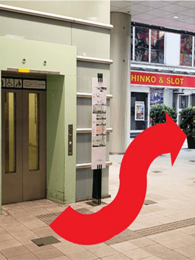 3.エレベーターを左に降りましたら、右へ道のりに進みます。