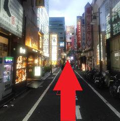 【後はまっすぐ歩くだけ!ここからパセラ歌舞伎町店の看板が見えてきます!